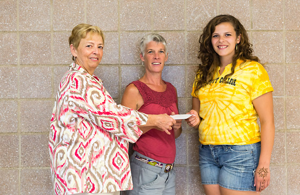 MaryAnn Lunniss and Chris Weigand (Scholarship Chair) present Carmen Francesco with the 2013 NEPAS College Scholarship