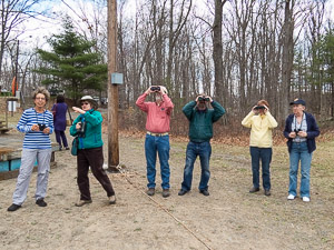Bird Walk led by Northeast PA Audubon at theat the 2014 Pike-Wayne Earth Day Festival