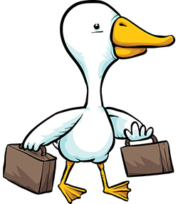 Duck with  Suitcases