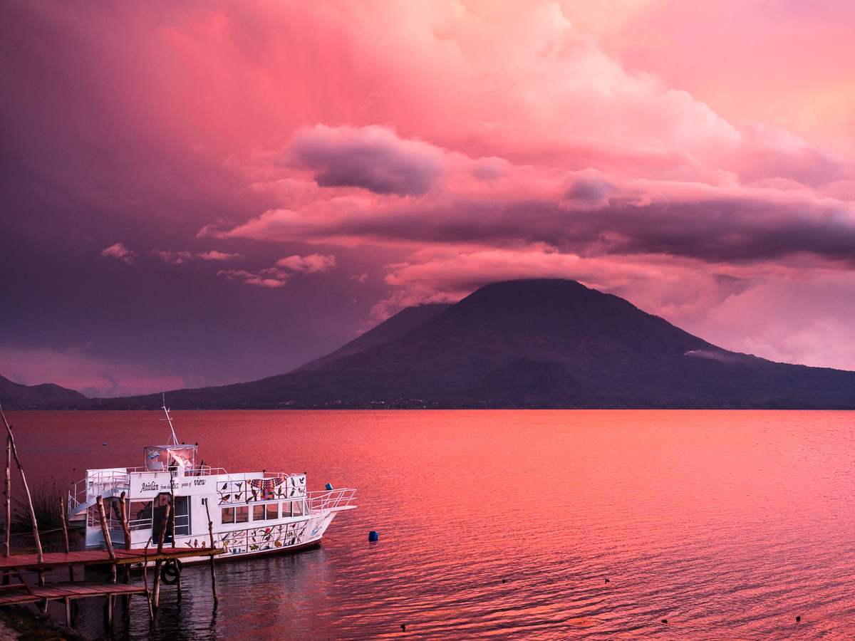 Sunset Over Lake Atitlan, Guatemala (Chris Fischer Photography)